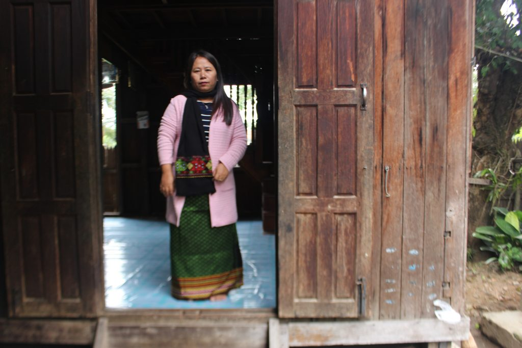 Kuki Women President Nga Ngai provides assistance to girls and women escaping violence or in need of assistance. (Photo: Libby Hogan / DVB)